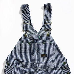 OshKosh B'Gosh vintage men's blue striped overalls